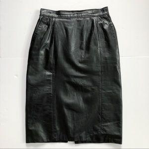 Dresses & Skirts - 80s Leather Skirt
